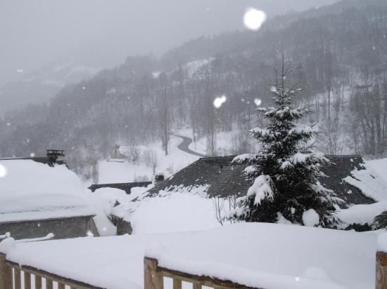 Grust en hiver(vue depuis l'appt 4 personnes)